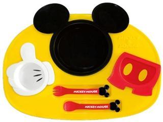日本代购直邮日本制迪斯尼米奇造型儿童餐具餐盘套装