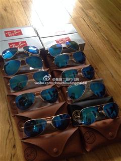 美国现货 特价雷朋飞行员墨镜 蓝色 58mm 适合大多数脸型