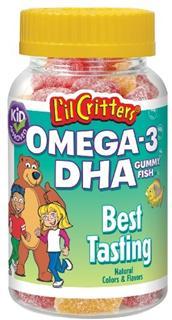 【代购直邮】L'il Critters小熊糖聪明Omega-3/DHA智慧鱼 120粒