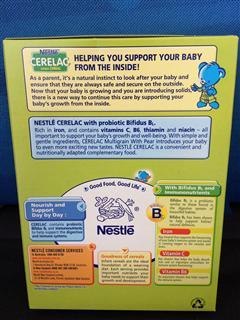 Nestle雀巢Cerelac高铁益生菌香梨婴儿小麦米粉 (8月+) 200g