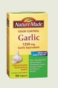 Nature Made 无嗅大蒜素1250mg200粒 降压降糖降胆固醇