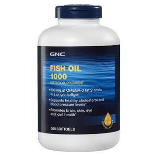 美国代购正品直邮 GNC鱼油 深海鱼油360粒 调节血压血脂胆固醇