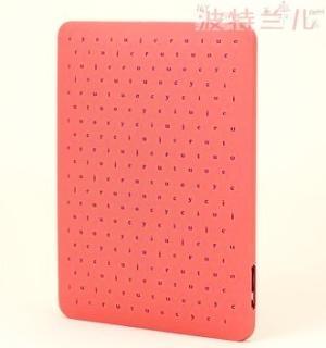美国专柜JUICY COUTURE橘姿IPAD硅胶字母LOGO保护套2色入!