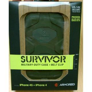 现货 美国代购正品Griffin Survivor幸存者iPhone4/4S三防硅胶保护套
