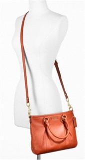 【特价】COACH F20342两用全皮剑桥女包 单肩 斜跨 橙色