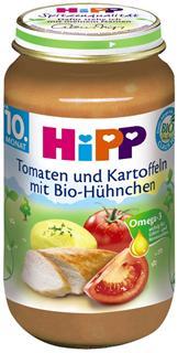 德国原装Hipp喜宝辅食 有机番茄土豆鸡肉泥 10月+ 220g  蔬肉泥