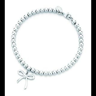 【美国直邮免邮税】蒂芙尼Tiffany Bow Bracelet串珠蝴蝶纯银手镯
