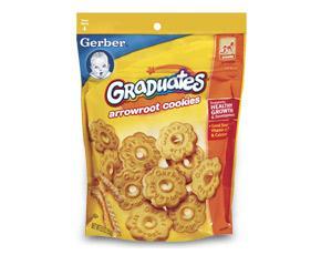 美国宝宝零食Gerber嘉宝竹芋曲奇饼干含钙铁锌VE