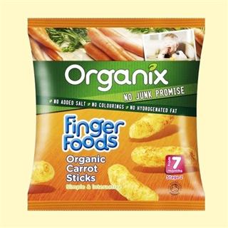 英国organix欧格妮有机胡萝卜婴儿磨牙饼干2段7月+ 20g英国直邮