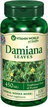 免运费!包美国直邮 vitamin world Damiana片提高性功能增大阴茎