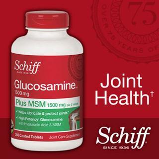 新包装美国原装 Schiff Glucosamine MSM 氨基葡萄糖 维骨力200粒