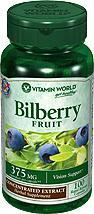 免运费!包美国直邮VITAMIN WORLD儿童越橘蓝莓素375mg 100粒
