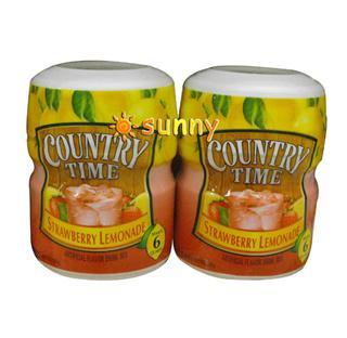 免运费!包美国直邮乡村时光 COUNTRY TIME 天然草莓柠檬冲粉