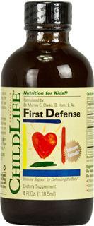 包美国直邮ChildLife 童年时光第一防御液 增强免疫 118.5ml