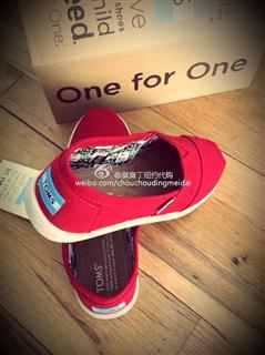 toms大红鞋 大童款(拍下请备注尺码)