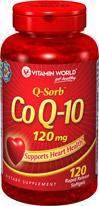 免运费!包美国直邮vitamin world辅酶CO-Q10 120mg120粒保护心脏