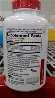 免运费!包美国邮Schiff Glucosamine氨基葡萄糖维骨力+MSM 200粒