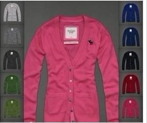 美国正品代购 Abercrombie&Fitch/AF 女士Mallory 100%羊毛开衫