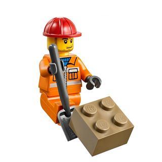 乐高/lego儿童拼装积木玩具小拼砌师小型挖掘机l10666