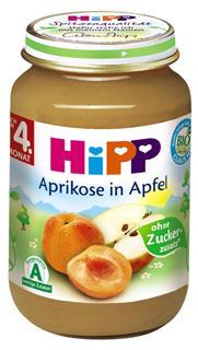 德国原装Hipp 喜宝 辅食 有机杏苹果泥 4月+ 190g  水果泥