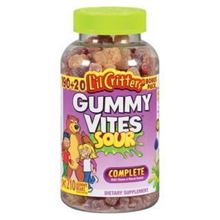 L'il Critters小熊糖复合维生素软糖-酸味 190粒