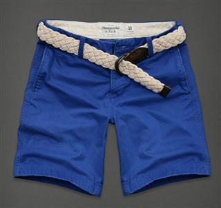 包邮 美国代购af Abercrombie&Fitch 男款工装短裤 附腰带