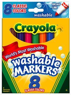 【代购直邮】Crayola 绘儿乐可水洗经典8色粗头马克笔/水彩笔