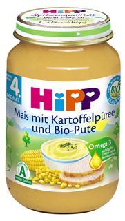 德国原装Hipp 喜宝 辅食 有机玉米土豆火鸡肉泥 4月+ 190g  肉菜泥