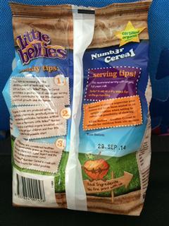 Little Bellies儿童有机全麦谷物麦圈数字形状桃子味(1岁+)170g