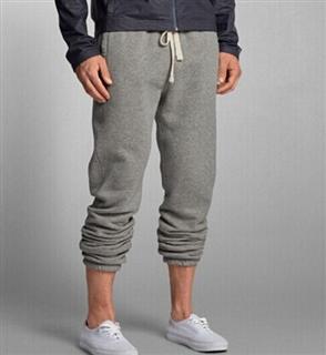 代购 美国直邮Abercrombie&Fitch AF男士束腿慢跑运动休闲裤 带抓绒 尺码XS-XL