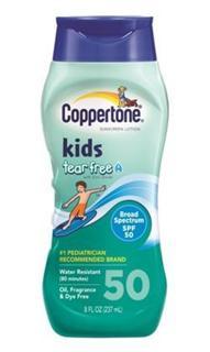 免运费!包美国直邮coppertone水宝宝儿童防晒霜SPF50 237ml 防水