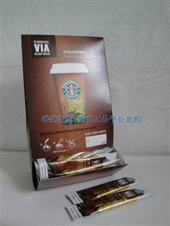 北京现货!星巴克速溶纯咖啡Starbucks VIA 哥伦比亚口味 3G