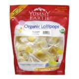 美国Yummy Earth天然有机口味柠檬水果棒棒糖 50支+
