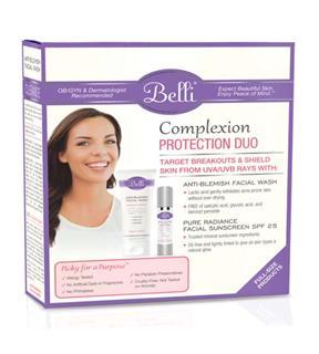 14年新版美国 Belli孕妇专用 纯天然祛痘洗面奶+隔离防晒霜BB霜