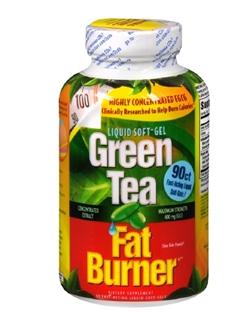 美国Green Tea Fat Burner 绿茶燃脂减肥瘦身 软胶囊 90粒