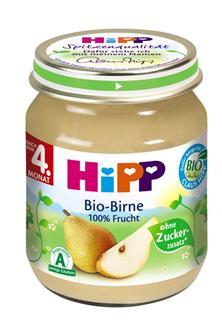德国原装Hipp 喜宝 辅食 有机梨泥 4月+ 125g  水果泥
