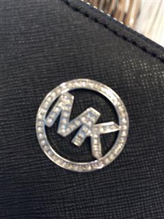 MK经典logo长款钱包