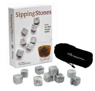 美国直邮Sipping Stones新型冰块威士忌冰爽石冰酒石饮酒必备套装