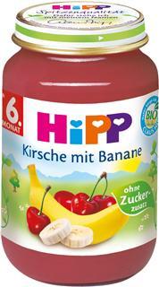 德国原装Hipp喜宝辅食 有机香蕉樱桃泥 6月+ 190g  水果泥