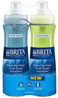 BRITA 碧然德 Soft Squeeze Water Filter 户外过滤水壶 600ml*2