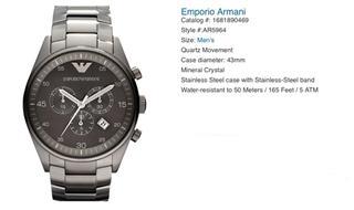 美国直邮 Emporio Armani阿玛尼 三眼 男士 经典 手表  ar5964