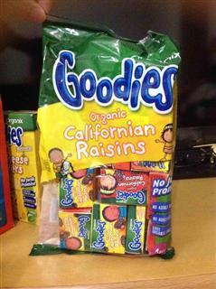 英国Organix Goodies 欧格妮有机葡萄干 12个月+ 250g 英国直邮