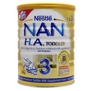 雀巢Nestle婴儿奶粉 超级能恩3段 适度水解蛋白防过敏 澳洲进口