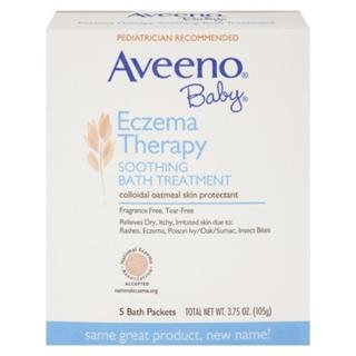 Aveeno Baby婴儿天然燕麦泡澡粉 预防缓解湿疹皮炎干痒