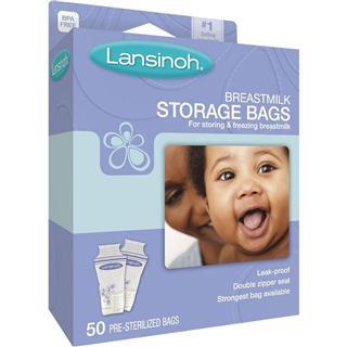 【代购直邮】包邮 Lansinoh不含BPA母乳存储袋/储奶袋50片