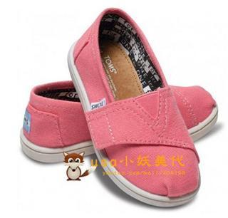 USA小妖   TOMS 小童美国经典Ash Canvas Tiny休闲帆布鞋