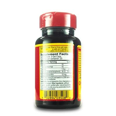 美国直邮Cyanotech 纯天然虾青素4mg*6mg*12mg3种含量