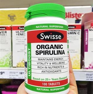 澳洲swisse有机螺旋藻100片 减肾毒 抗癌 增加免疫力