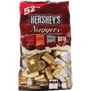 免运费!包美国直邮 Hershey's好时4种口味金银砖巧克力 1.47kg