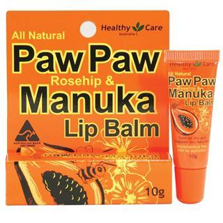 Healthy care玫瑰果油麦卢卡蜂蜜润唇膏10g 淡化唇纹、滋润修复